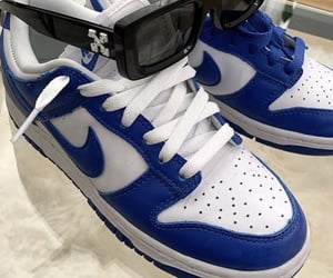 nike, sneakers, and blue nikes image