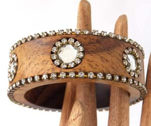 Dolce & Gabbana Bangle, Crystal Wood Bracelet, Designer DG Jewelry