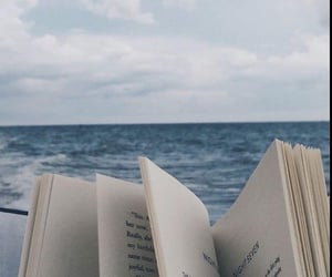book, blue, and ocean image