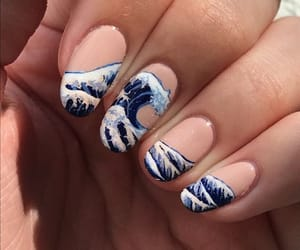 blue, inspiration, and nail image