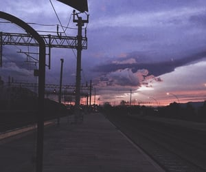 aesthetic, train, and train station image