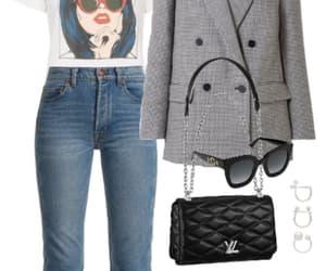 bag, blazer, and clothes image