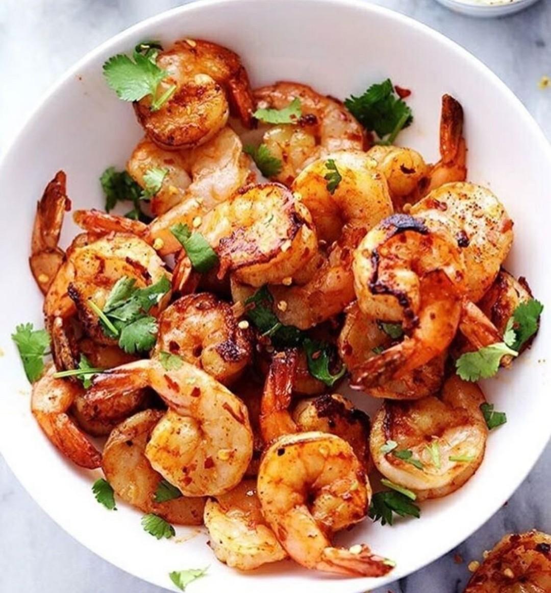food, shrimp, and sea food image