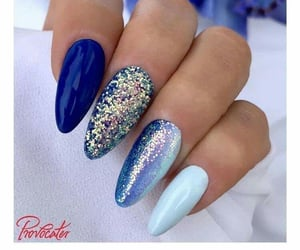 blue nails, manicure, and nails image