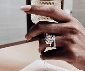 nails, jewelry, and drink image
