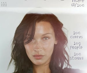 cover, model, and bella hadid image