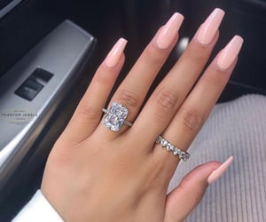 jewels, nails, and pink image