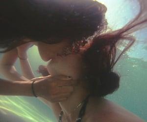 bisexual, kissing, and pool image