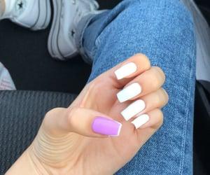 Blanc, nails, and magnifique image