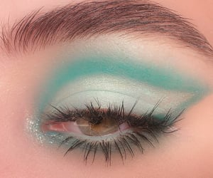eyeshadow, green, and mint image