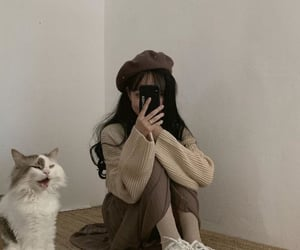 cat, aesthetic, and ulzzang image