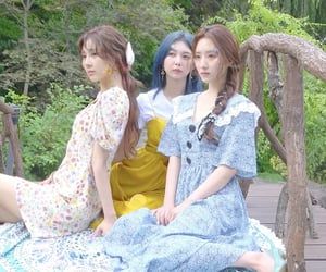 blue, girl group, and outfit image