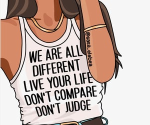 compare, different, and empowerment image