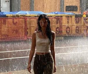 girl, fashion, and rain image