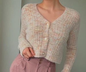aesthetic, cardigan, and look image