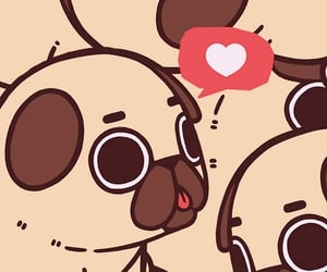 background, pug, and pugs image
