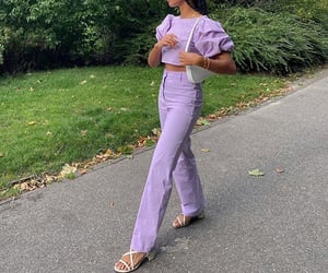 pastel colors, everyday look, and puff sleeve image