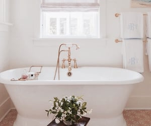 architecture, bathroom, and bathtub image