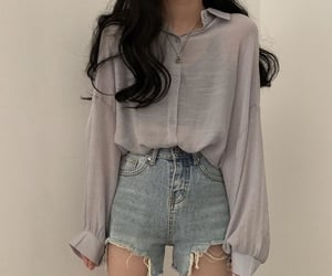 asian, blue, and clothes image