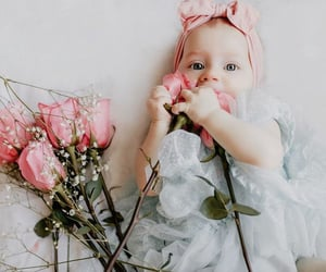 baby, flower, and flowers image