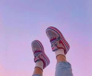 shoes, aesthetic, and sky image