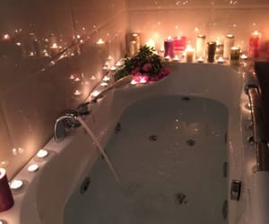 bath, candle, and rose image