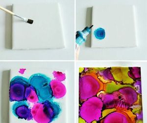 diy, paint, and coasters image