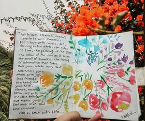 art, flowers, and inspo image