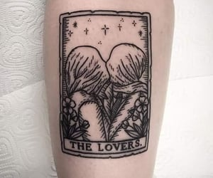 tattoo, art, and lovers image