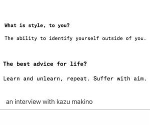 fashion, identity, and life advice image