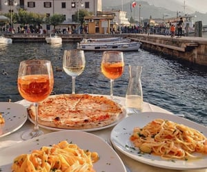 food, pizza, and pasta image