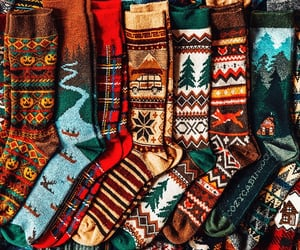 socks, autumn, and fall image