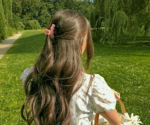 beautiful, hair, and spring image