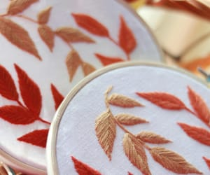 aesthetic, autumn, and embroidery image
