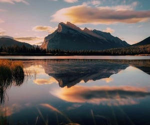lake, landscape, and sky image