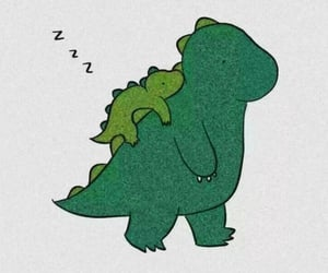 aesthetic, dinosaur, and green image