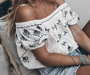 blogger, blouse, and fashion image