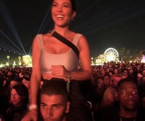 night, coachella, and kourtney kardashian image