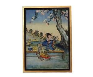 etsy, japanese art, and portrait painting image