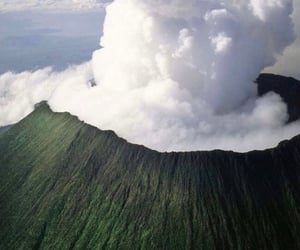 nature, volcano, and theme image