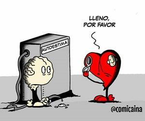 autoestima, cartoon, and frases español image
