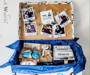 blue, box, and couple image