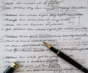 fountain pen, poetry, and english lit image