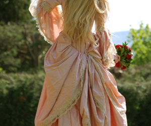 blonde, dress, and hair image