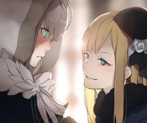 blush, girls, and yuri image