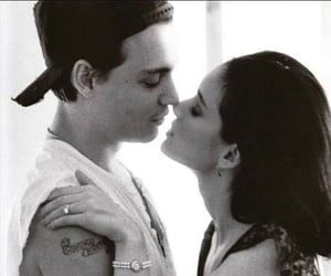 johnny depp, love, and couple image