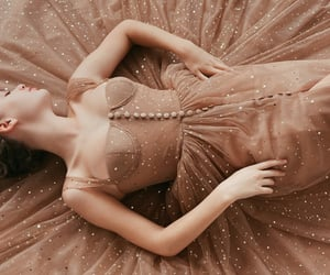 beautiful, beige, and dress image