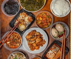dumpling, egg, and rice image