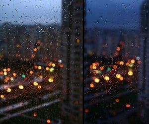 light, rain, and night image