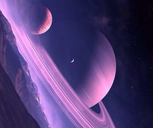 planet, purple, and space image